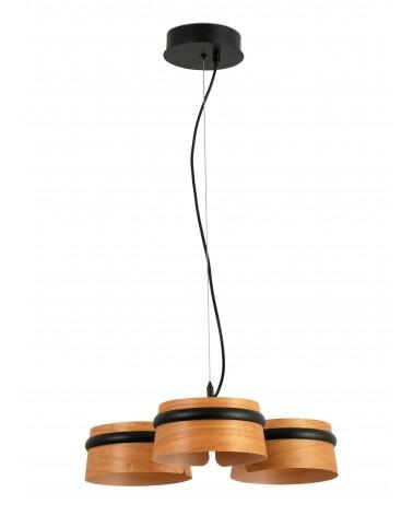 Lámpara Colgante Negra Loop Led diseñada por Studio Ribaudi de Faro
