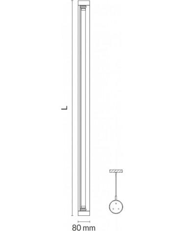 Luminaria Tubular Led de Suspension 80mm IP67 de Tromilux