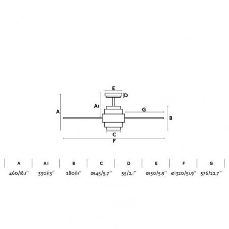 Ventilador Decorativo Disc Blanco diseñado por Conillas de Faro