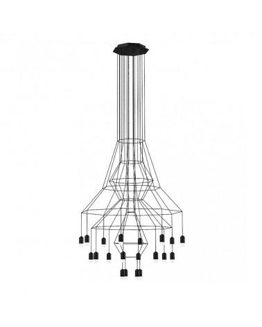 Colgante Wireflow Candelier 20L de Vibia