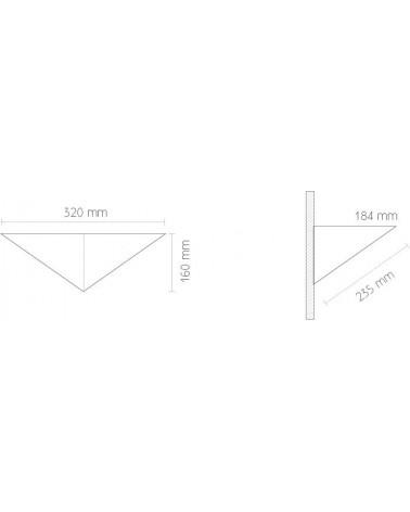Aplique Triangulo Acero Inoxidable Cepillado 1xPL 18W de Tromilux