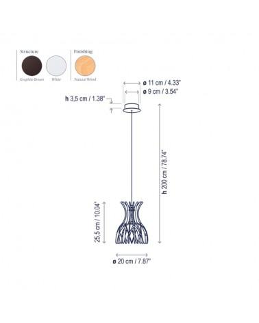 Lámpara colgante Domita S/20 de Bover