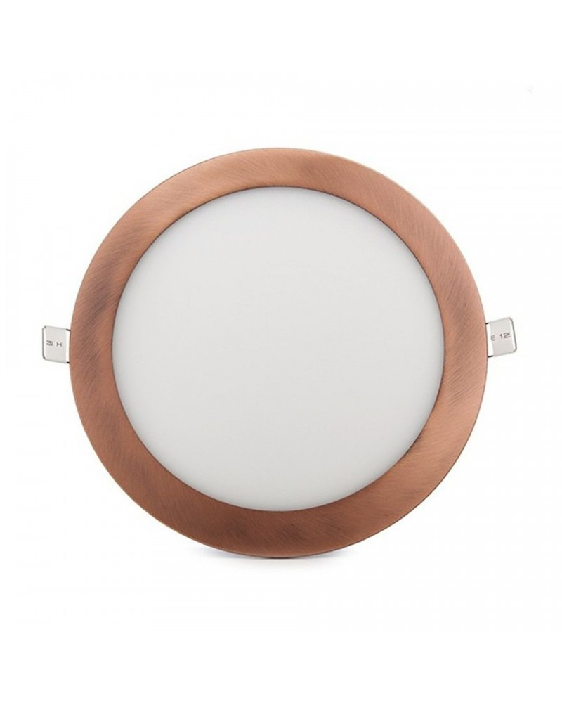 Downlight Empotrable Led Redondo 6W marco bronce