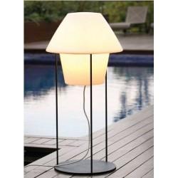 Base para lampara Versus Acero Negro