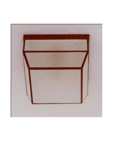 Plafón 508 Vidrio Ácido 21x21 de Eduardo Artesania