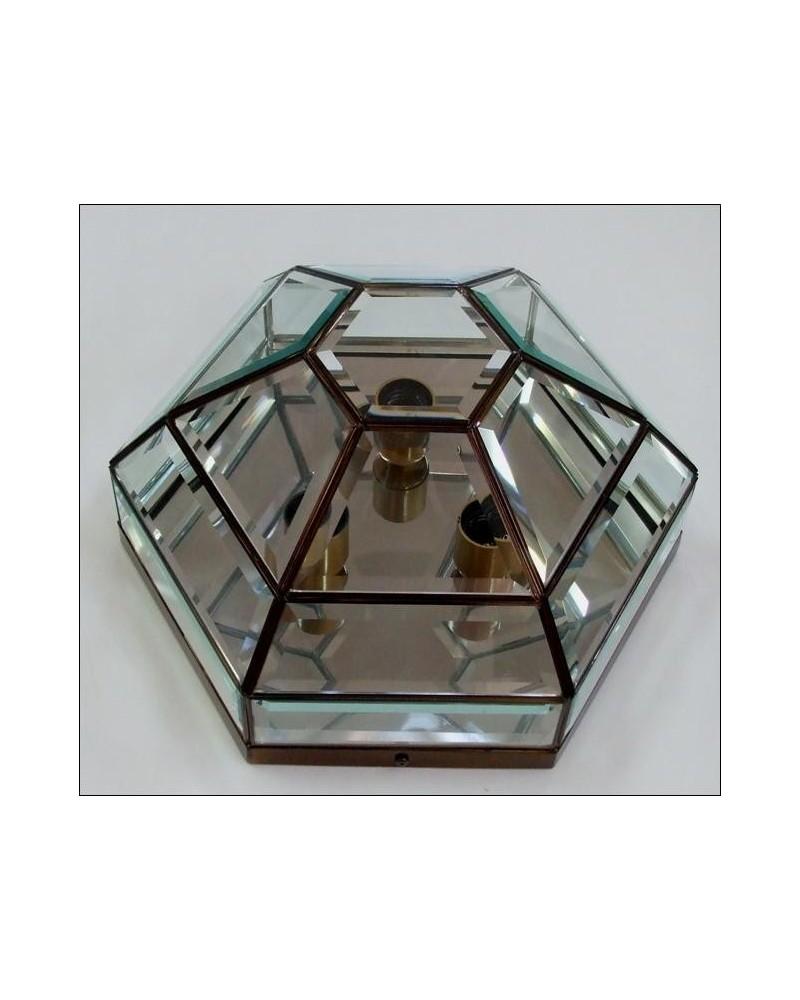 Plafón exagonal 56103 Vidrio biselado 37x20 de Eduardo Artesania