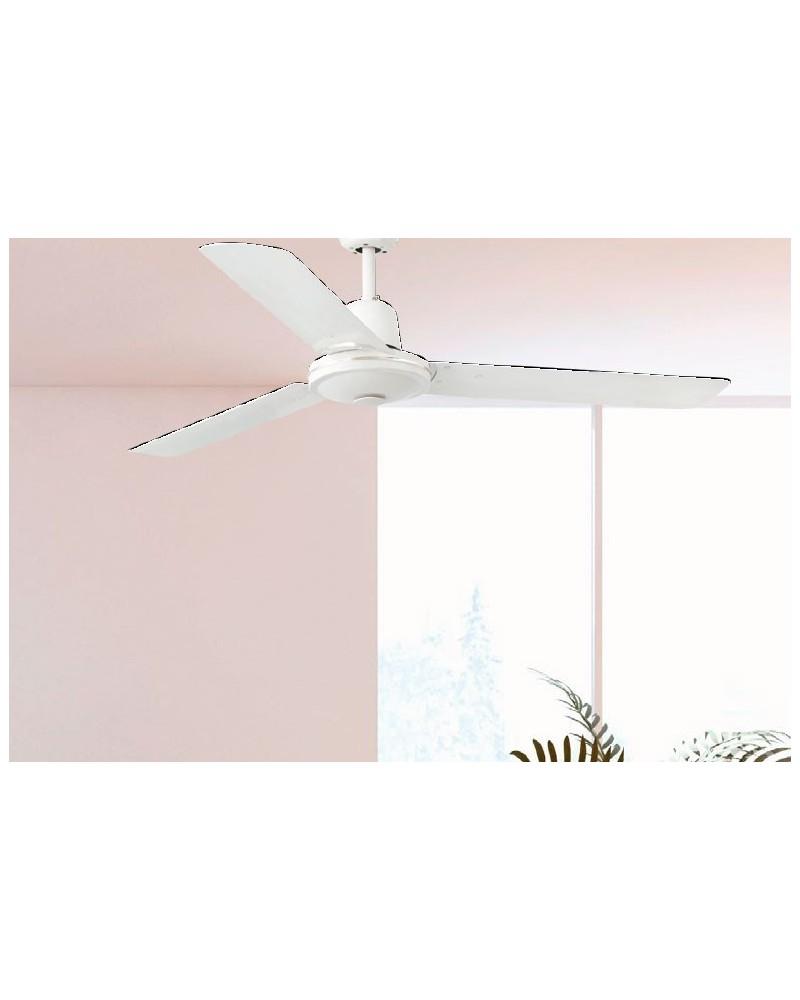 Ventilador Eco Indus Blanco sin Luz de Faro