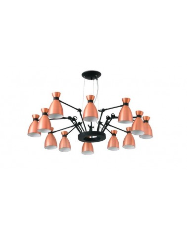 Lámpara Colgante 12 luces Retro Cobre diseñado por Alex & Manel Lluscà de Faro