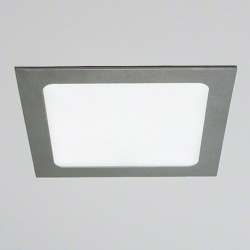 Downlight Empotrable Led Cuadrado 18W marco plata