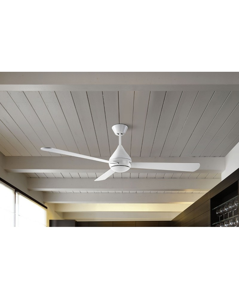 Ventilador Tupai DC L blanco diseñado por Benedito Design