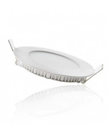 Downlight Empotrable Led Redondo 6W marco blanco