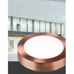 Downlight Superficie Led Circular 18W Cobre 4500K