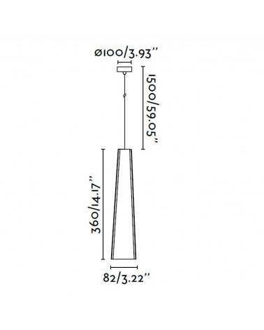 Lámpara Colgante Pluma LED diseñado por Nahtrang de Faro