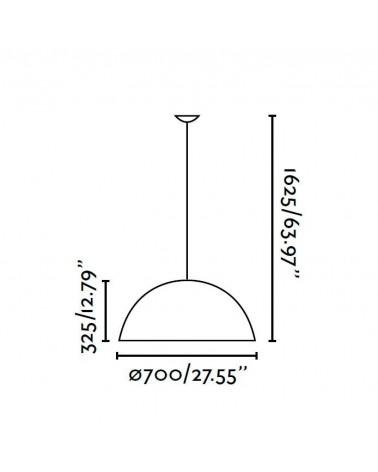 Lámpara Colgante Pequeña Magma de Faro