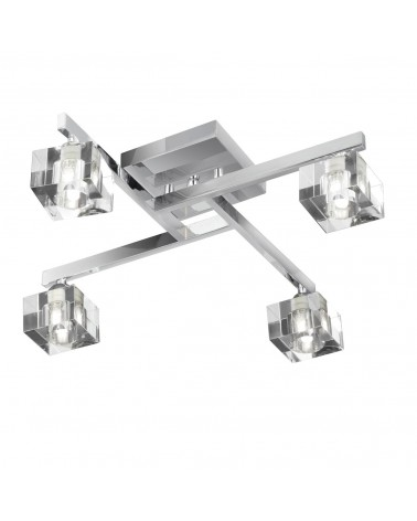 Plafon Led Sculptured Ice 470mm 4L 4x33W de Mimax Lighting