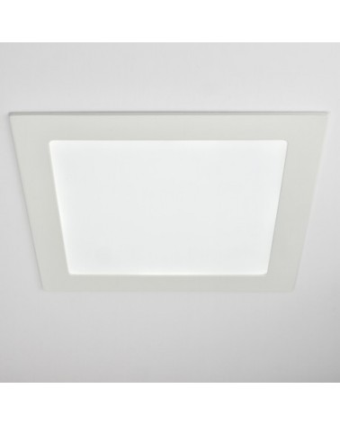 Downlight Empotrable Led Cuadrado 18W marco blanco