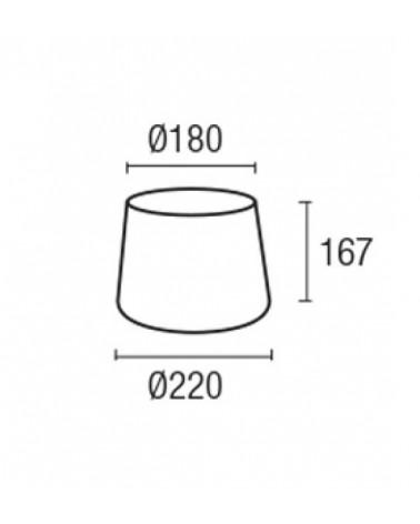 Pantalla ovalada Ø220mm para aplique modelo Hall diseñado por Natrang design de Grok by LEDS-C4
