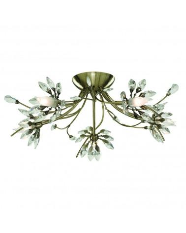 Plafon Led Hibiscus 5L 5x33W de Mimax Lighting