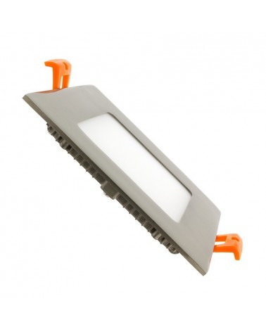 Downlight Empotrable Led Cuadrado 6W marco niquel satinado