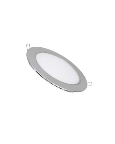 Downlight Empotrable Led Redondo 6W marco plata
