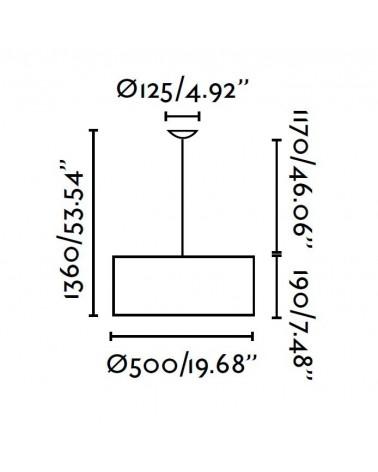 Lámpara Colgante Seven 50 cm de Faro