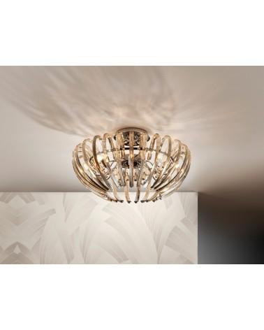 Plafon Ariadna champagne 9L 9xG9 LED 4W de Schuller