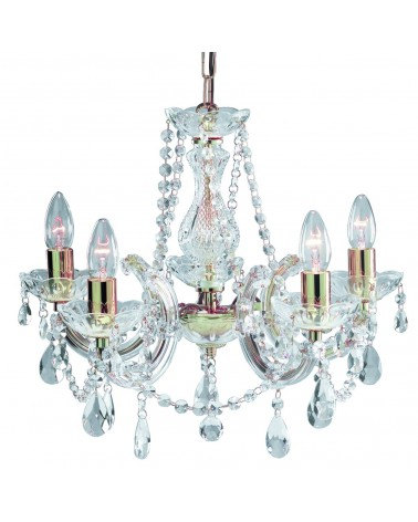 Suspension Led Marie Therese Cristal 8L 8x60W de Mimax Lighting