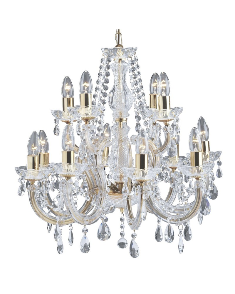 Suspension Led Marie Therese Cristal 5L 5x60W de Mimax Lighting