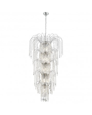 Suspension Led Marie Therese Transparente 5L 5x60W de Mimax Lighting