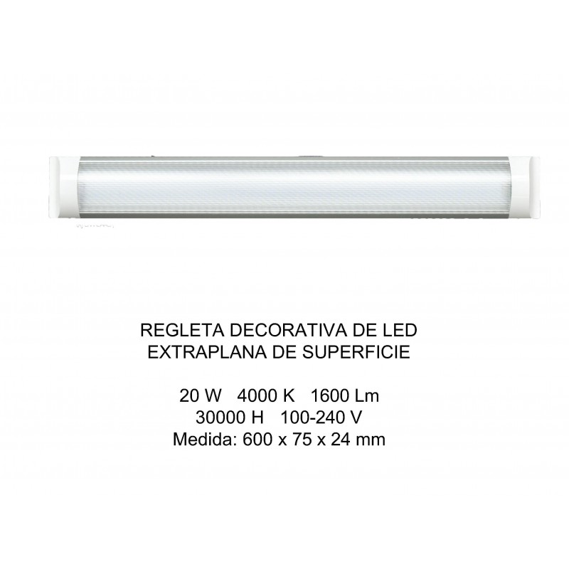 Regleta Decorativa Superficie Led Extraplana 4000K