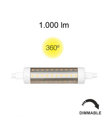 LINEAL TUBULAR 9W R7S 118MM 220V 360º DIMMABLE LED DE BENEITO FAURE