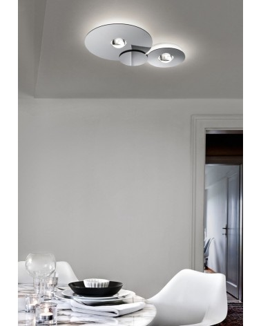 Plafon Bugia Double Led 2x17w de Studio Italia Design